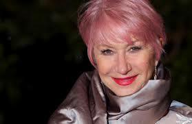 Helen Mirren this year sporting pink hair.